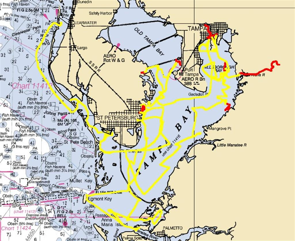 Finally left tampa bay on with the adventure i really enjoy the chartingnavigation stuff nvjuhfo Image collections